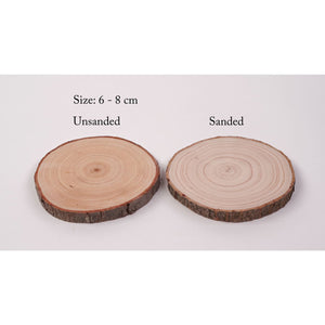 6 - 8 Cm Wood Slices (20 Pack) - Small Wood Slices