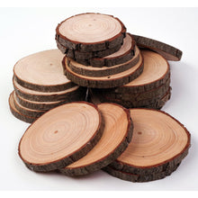 Load image into Gallery viewer, 8 - 10 Cm Wood Slices (100 Pack) - Small Wood Slices