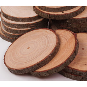 8 - 10 Cm Wood Slices (100 Pack) - Small Wood Slices