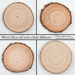 8 - 10 Cm Wood Slices (10 Pack) - Small Wood Slices