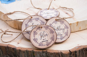 Wedding Favour Hangtags - Wreath Design