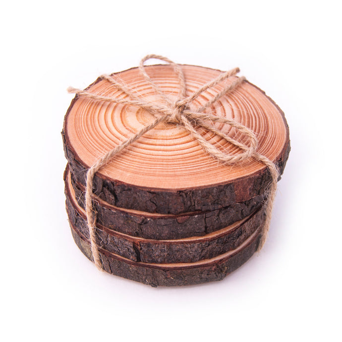 Wood Slice Coasters | 4, 6, 8 packs