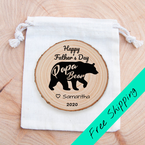 Personalised Papa Bear - magnet
