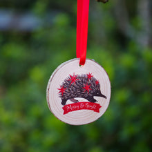 Load image into Gallery viewer, Echidna Christmas Ornament