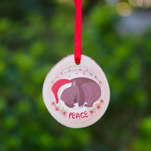 Load image into Gallery viewer, Wombat Christmas Ornament