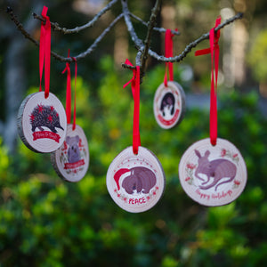 Wombat Christmas Ornament