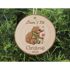 Baby's First Christmas - Echidna - Personalised Ornament