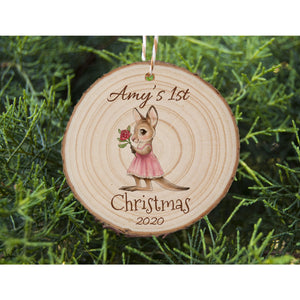 Baby's First Christmas - Kangaroo - Personalised Ornament