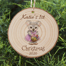 Load image into Gallery viewer, Baby's First Christmas - Koala - Personalised Ornament