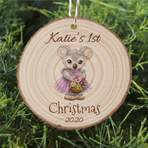 Baby's First Christmas - Koala - Personalised Ornament