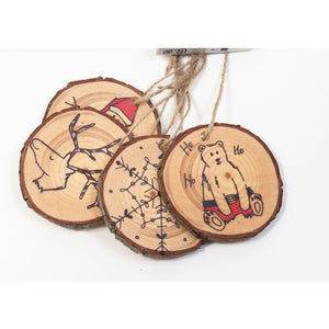 Blank Wood Slice Hang Tags (20 Pack) - Hang Tags
