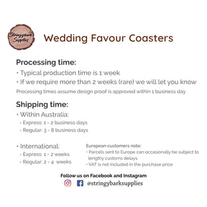 Coasters - Acorn - Wedding favour