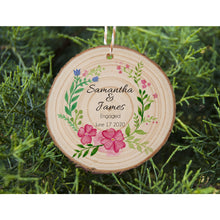Load image into Gallery viewer, Engaged Couple Ornament - Floral - Personalised Ornament