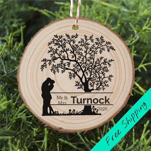Engaged Couple Ornament - Tree - Personalised Ornament