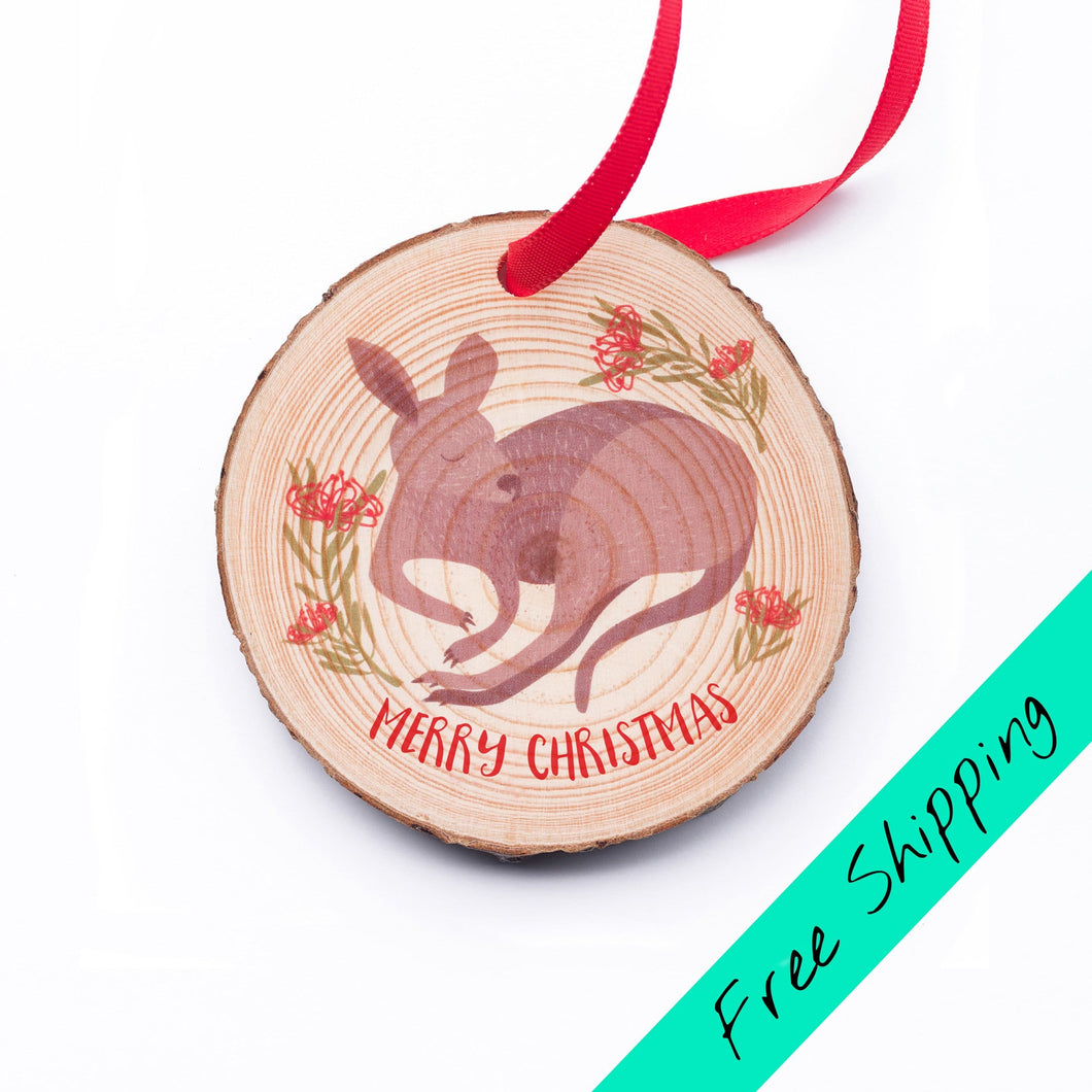 Kangaroo Christmas Ornament - Christmas ornaments