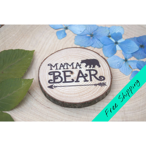 Mama Bear Magnet - Black - Mother's Day Magnet