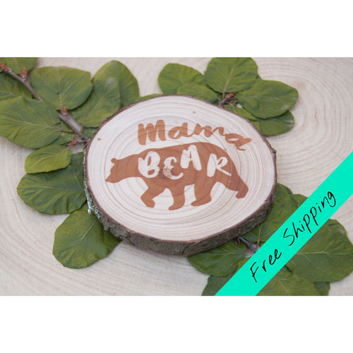 Mama Bear Magnet - Brown - Mother's Day Magnet