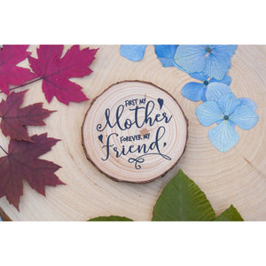 Mothers Day Wood Slice Magnet - Mothers Day Magnet