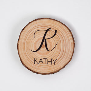 Personalised Wedding Favour Coasters - Monogram Design - Wedding Favour
