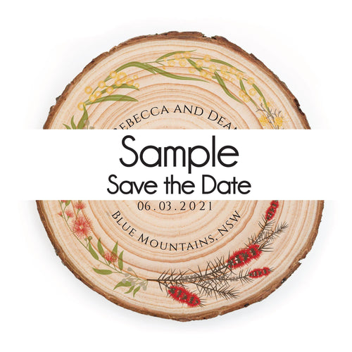 Sample Save the Date - Save the dates
