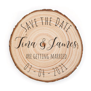Sample Save the Date - Small / Amatic - Save the dates