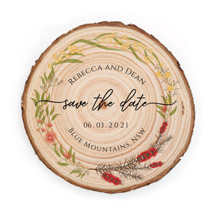 Sample Save the Date - Small / Australian Floral - Save the dates