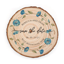 Load image into Gallery viewer, Sample Save the Date - Small / Blue Morning Glory - Save the dates