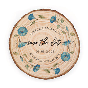 Sample Save the Date - Small / Blue Morning Glory - Save the dates