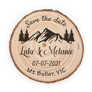 Sample Save the Date - Small / Mountain - Save the dates