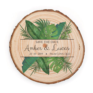 Sample Save the Date - Small / Tropical Destination - Save the dates