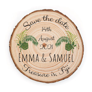 Sample Save the Date - Small / Tropical - Save the dates