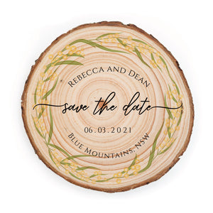 Sample Save the Date - Small / Wattle - Save the dates