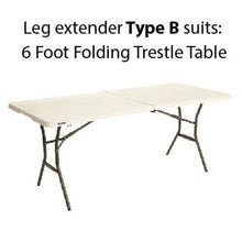 Load image into Gallery viewer, Trestle table leg extenders (10 cm lift) - Leg extenders