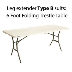 Trestle table leg extenders (10 cm lift) - Leg extenders