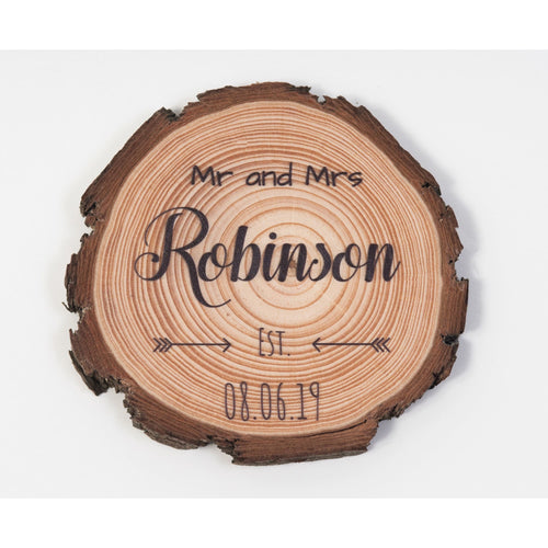 Wedding Favour Coasters - Arrow Design - Wedding Favour