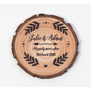 Wedding Favour Coasters - Fern Design - Wedding Favour
