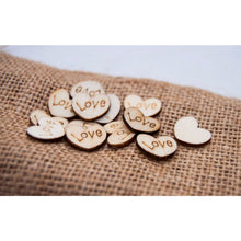 Load image into Gallery viewer, Wedding Table Scatter Wood Hearts (100 Pack) - Table Scatter
