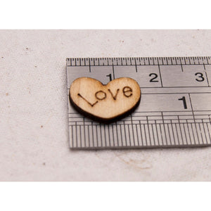Wedding Table Scatter Wood Hearts (100 Pack) - Table Scatter