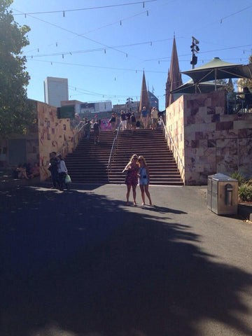 Visiting Federation Square