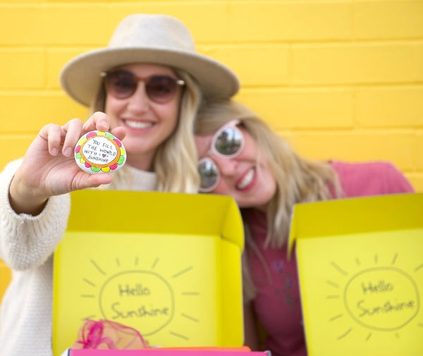 Amy & Liza Pack gift boxes for Melbourne Friends