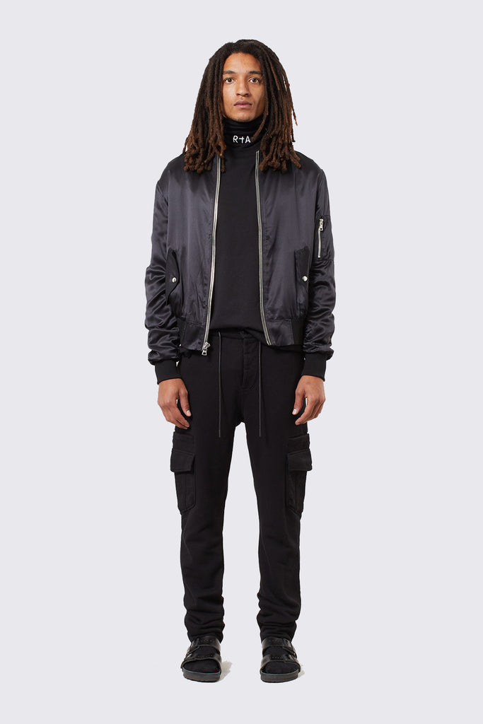 Black Cotton Cargo Pant