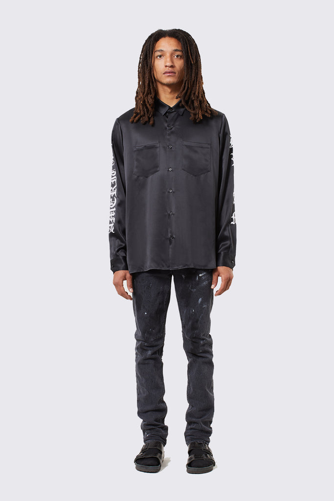 MALCOLM SHIRT | BLACK SILK