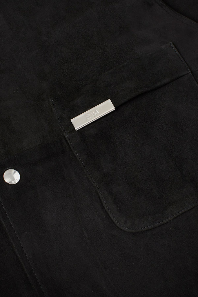 SAMSON SHIRT | BLACK SUEDE