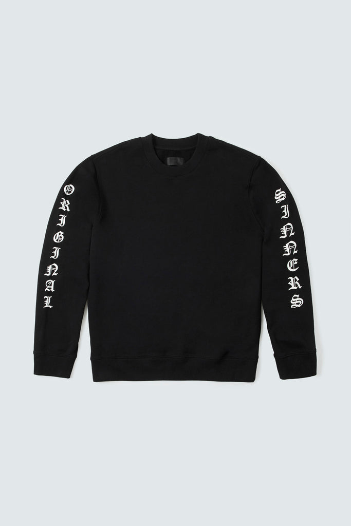 Black Cotton Original Sinners Longsleeve Tee