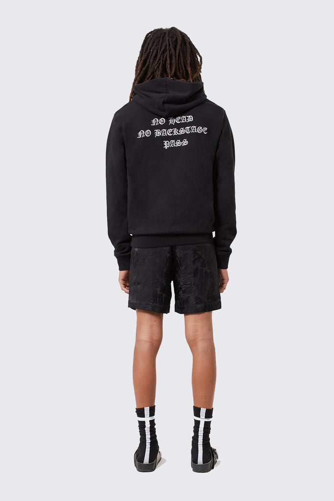 Black Cotton NO HEAD Hoodie