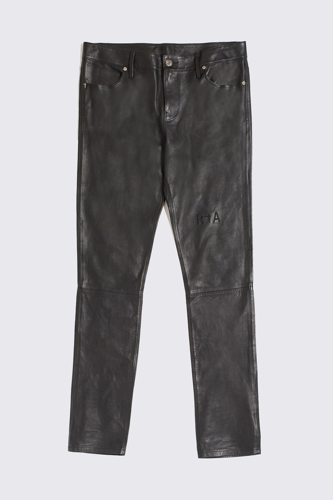 Black Leather Skinny Jean