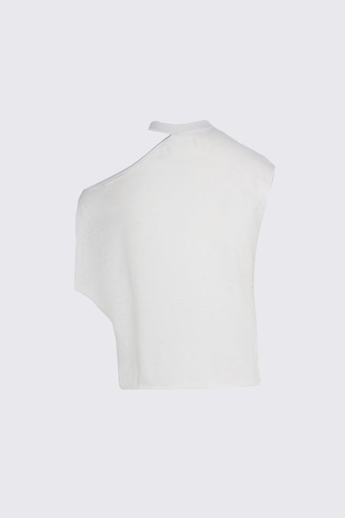 White Cut Out Tee