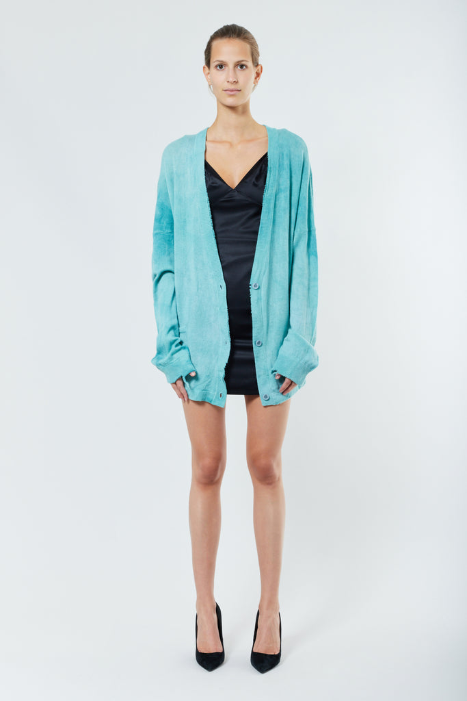Mint Cashmere Oversized Cardigan