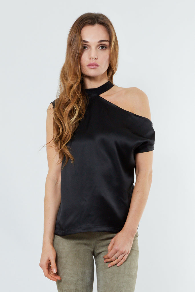 Black Polyester Tee