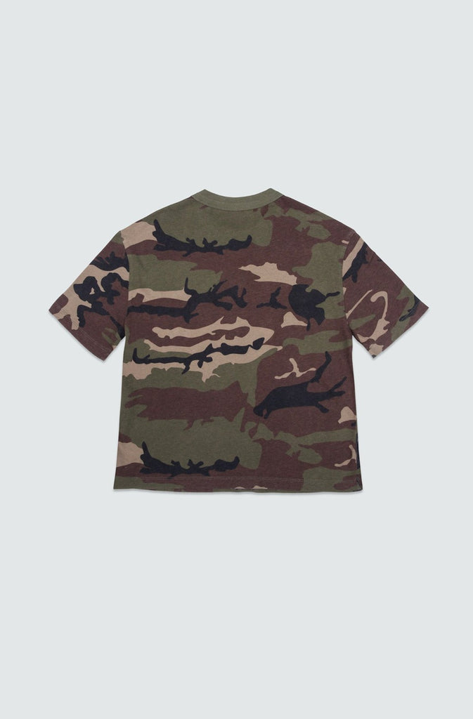 Cottom Camo Cropped Boxy Tee